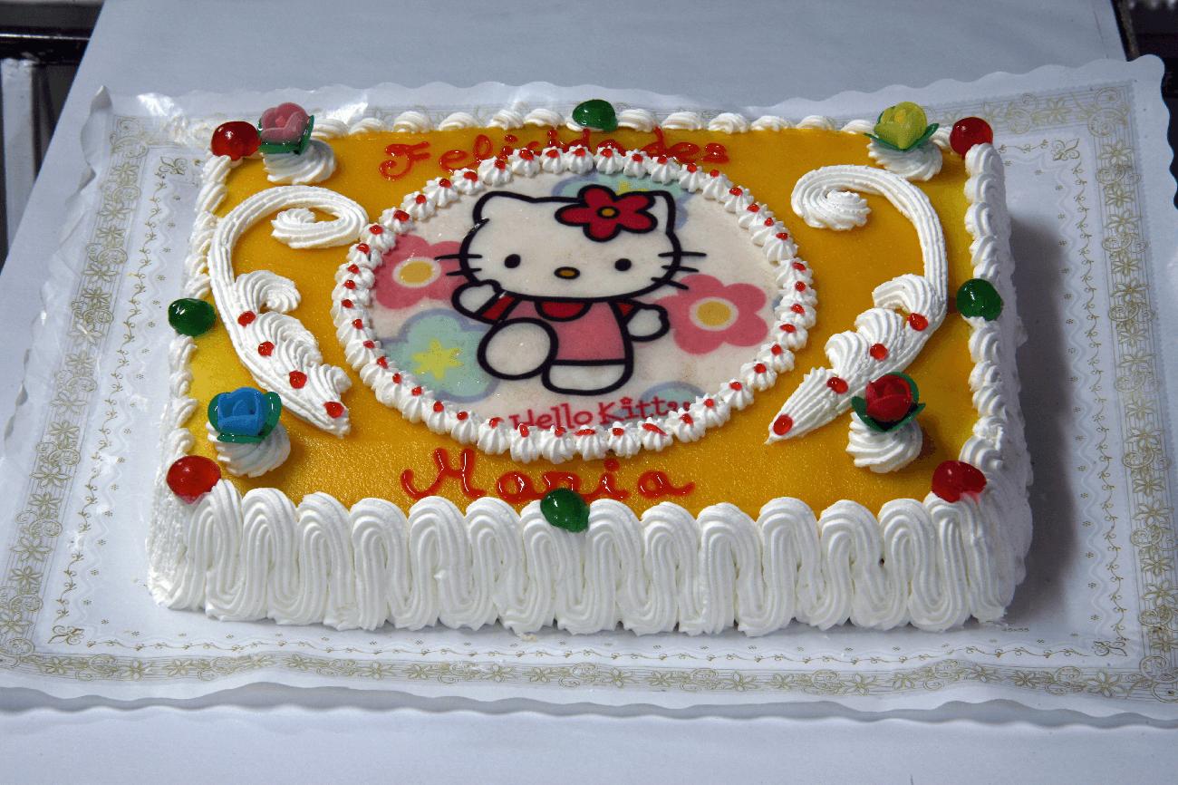 Tarta cuadrada grande
